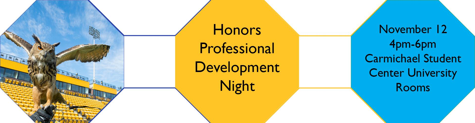 Honors Professional Development Night
