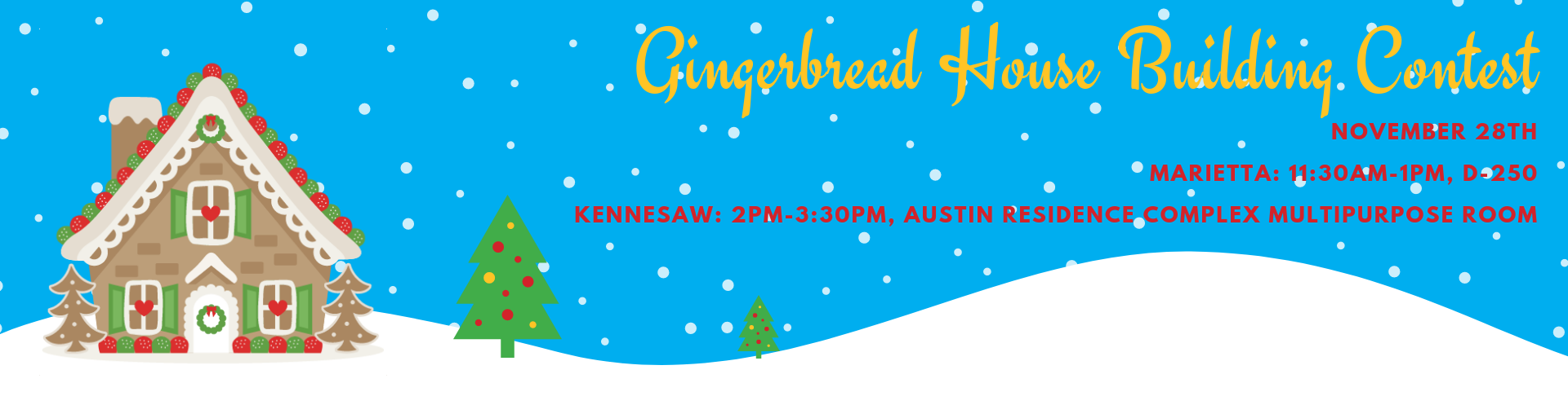 Honors Gingerbread House Building Contest
